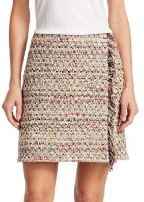 ADAM by Adam Lippes Cotton Tweed Mini Wrap Skirt