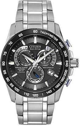 Citizen Men's Eco-Drive Titanium Perpetual Chrono Atomic Timekeeping Watch with Date