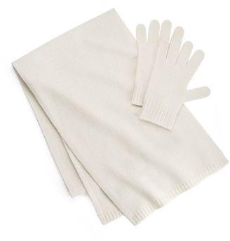 Apt. 9® Cashmere Gloves & Scarf Set $158 thestylecure.com