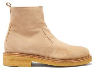 Ami Suede Ankle Boots - Mens - Beige