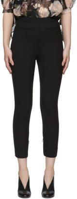 Alexander McQueen Black Stretch Wool Trousers