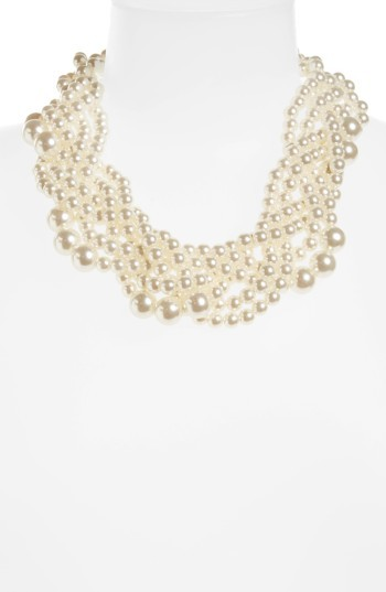 Women's Baublebar Bubblestream Imitation Pearl Necklace 4