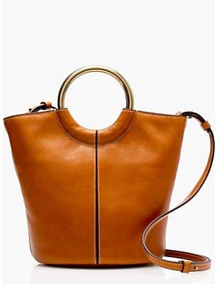 J.Crew Frankie Leather Bucket Bag, Copper Natural