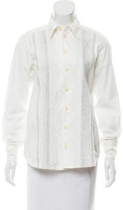 Dosa Embroidered Button-Up Top
