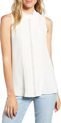 Chelsea28 Ruffle & Lace Sleeveless Top