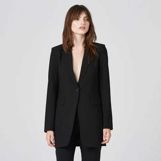 DSTLD Womens Oversized Blazer in Black