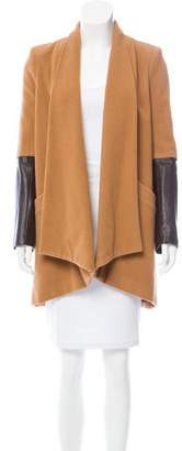Mason Wool Leather-Accented Coat
