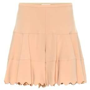Chloé High-rise crêpe shorts