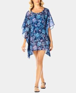 Swim Solutions Paisley Swim Cover-Up, Created For Macy's Women's Swimsuit
