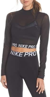 Nike Pro Mesh Crop Top