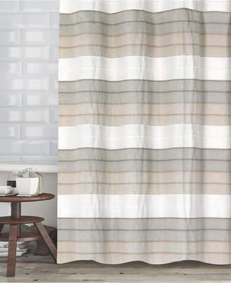 """Popular Bath Hellen Cotton Stripe 72"""" x 72"""" Shower Curtain Bedding"""