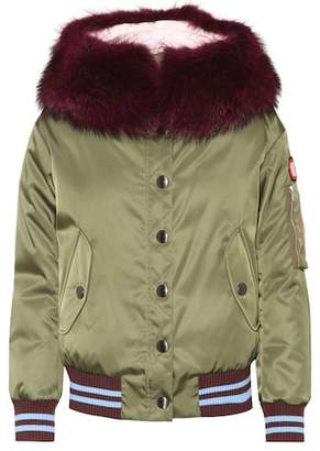 Miu Miu Fur-trimmed down coat
