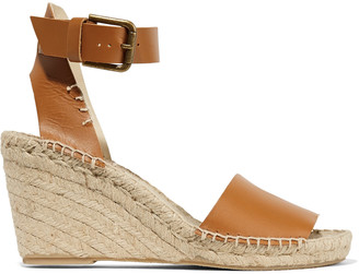 Soludos Leather espadrille wedge sandals $149 thestylecure.com