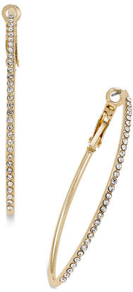 """Thalia Sodi Extra Large 2.4"""" Gold-Tone Crystal Pave Marquise Hoop Earrings, Created for Macy's"""