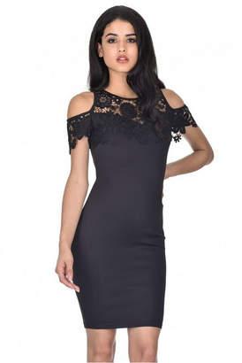 AX Paris Cold Shoulder Crochet Dress