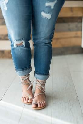 Athena Lace Up Sandal - Taupe