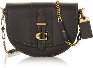 Coach Small Glove Tanned Leather Saddle Bag - Black