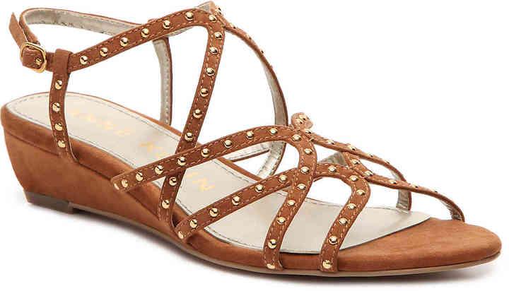 Anne KleinWomen's Mallory Wedge Sandal -Cognac