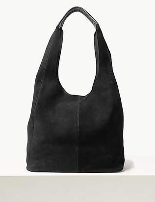 M&S Collection Leather Blend Hobo Bag