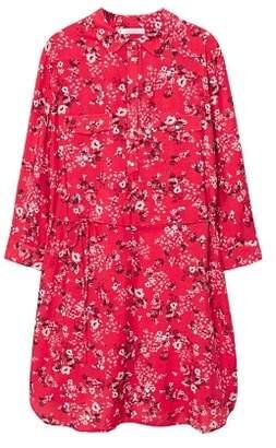 Violeta BY MANGO Floral shirt dress