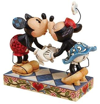 Enesco Disney Traditions by Jim Shore Mickey Mouse Kissing Minnie Stone Resin Figurine