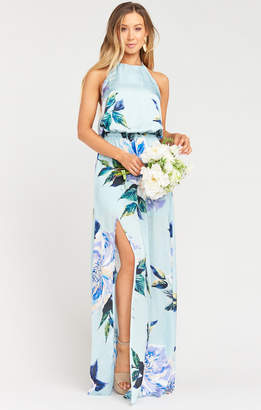 Show Me Your Mumu Heather Halter Dress ~ Mint to Be Floral