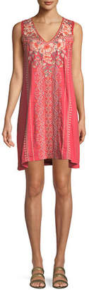 Johnny Was Calida Sleeveless Embroidered Tank Tunic, Plus Size