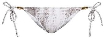 Heidi Klein Alhambra Tie Side Bikini Briefs - Womens - White Multi