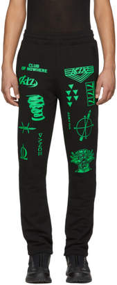 Kokon To Zai Black and Green Patch 004 Lounge Pants