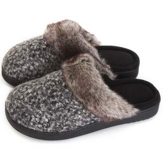 6238f53260a007 ULTRAIDEAS Women s Comfort Memory Foam Slippers Wool Blend Fuzzy Coral Fleece  Lined Slip on House Shoes