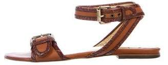 Just Cavalli Leather Buckled Sandals