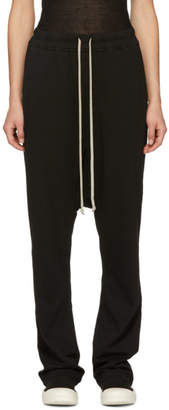 Rick Owens Black Long Drawstring Lounge Pants