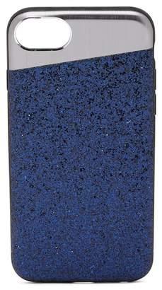 Nanette Lepore Angled Gunmetal/Blue Glitter iPhone 6/6S/7/8 Case