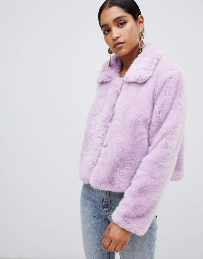 Jayley Faux Fur Cropped Jacket