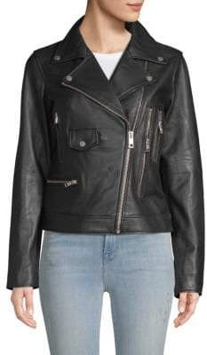 William Rast Leather Moto Jacket