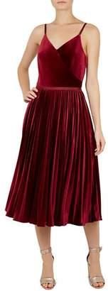 Ted Baker Khim Pleated Velvet Dress