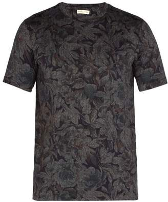 Etro - Floral Print Cotton Jersey T Shirt - Mens - Multi