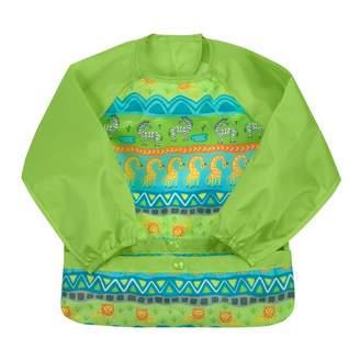 Green Sprouts Snap & Go Easy-Wear Long Sleeve Bib 2T-4T Safari of