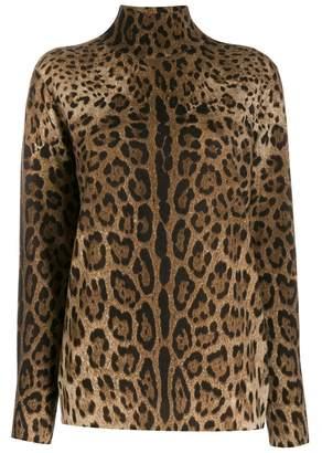 Dolce & Gabbana leopard print jumper