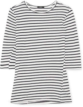 Bassike Striped Organic Cotton Top - Navy