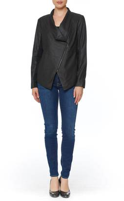 BB Dakota Kenrick Draped Leather Jacket $358 thestylecure.com
