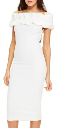 Women's Missguided Bardot Off The Shoulder Dress $78 thestylecure.com