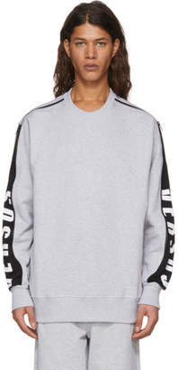 Versus Grey Zip Logo Sleeve Sweatshirt