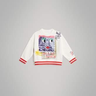 Burberry Polaroid Print Cotton Sweatshirt , Size: 2Y