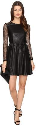 Only Sara Faux Leather Mix Dress Women's Dress