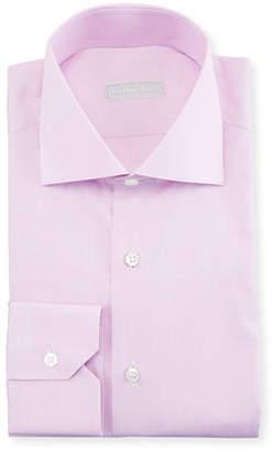Stefano Ricci Men's Check Barrel-Cuff Dress Shirt, Lilac
