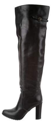 Sergio Rossi Over-The-Knee Leather Boots