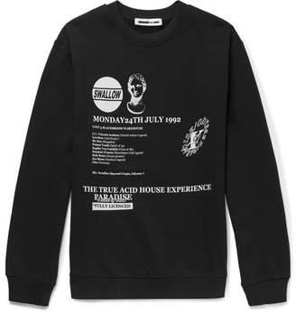 McQ Slim-Fit Printed Loopback Cotton-Jersey Sweatshirt