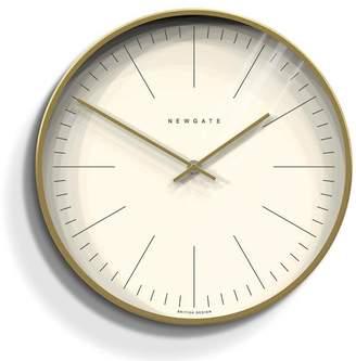 Newgate Brass Radial The Oslo Clock - Gold/White