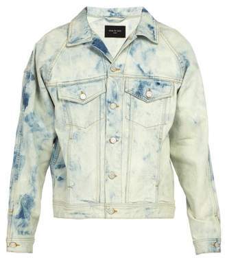 Fear Of God Acid Wash Denim Jacket - Mens - Light Blue
